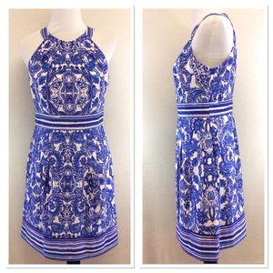 Eliza J. Blue floral dress with pockets